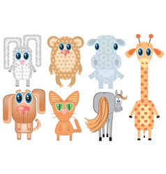 cartoons animals vector image