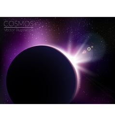 Earth sunrise with stars vector image