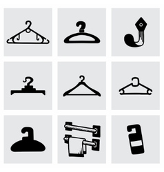 Hanger icon set vector