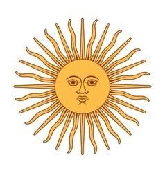 Argentna sun vector image