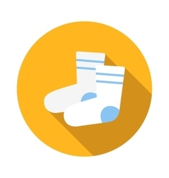 Pair of white sock icon flat style vector