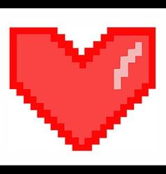 8-Bit Heart vector image