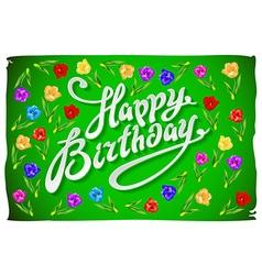 Modern calligraphy happy birthday brushed vector