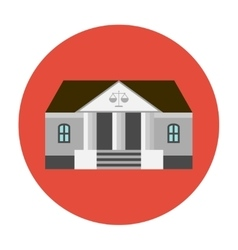 Courhouse icon flat vector image