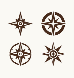 a set of compasses for the logo vector image vector image