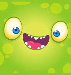 adorable cool cartoon monster face vector image