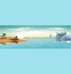 arab metropolis on the coast vector image vector image