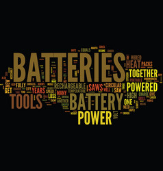 Battery sizes and types text background word vector