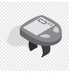 bicycle speedometer computer isometric icon vector image