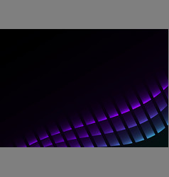Blue purple abstract pixel curve background vector