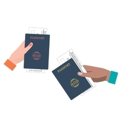 Boarding Pass and Passport vector image