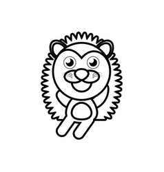 Cartoon porcupine animal outline vector