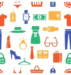 Colorful Clothing and Accessories Themed Graphics vector image