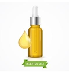 Dropper essential oil bottle vector