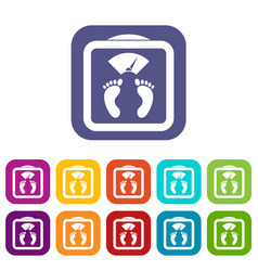 floor scales icons set vector image
