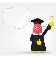 Funny Monster Student vector image