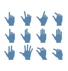 Gesture icon set vector image vector image