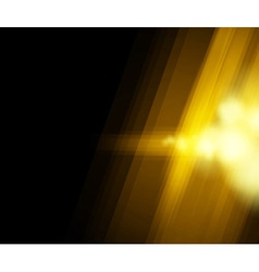 halftone golden light vector image vector image