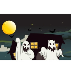 Halloween Ghost Background vector image