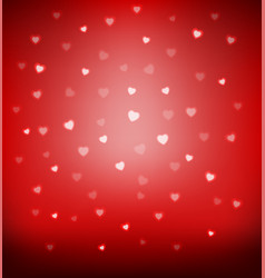 Happy valentine day card hearts light vector