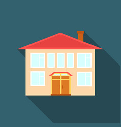 house icon flate single building icon from the vector image vector image