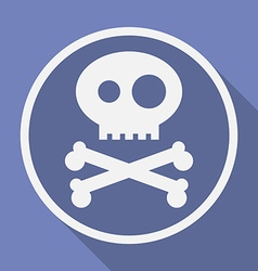 Icon of jolly roger symbol pirate filibuster vector