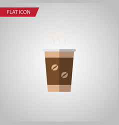 isolated coffee flat icon cappuccino vector image