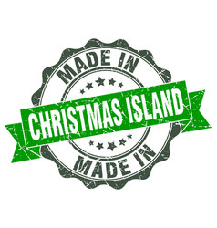 Made in christmas island round seal vector