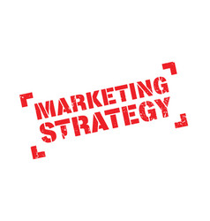 Marketing strategy rubber stamp vector