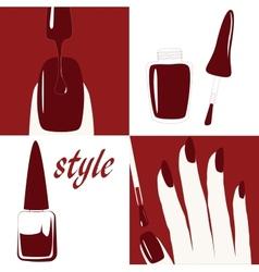 Nail polishing at the salon - vector