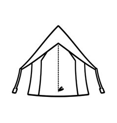 outline tourism tent camping excursions vector image