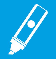 permanent marker icon white vector image