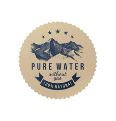 Pure water label template vector