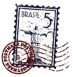 rio de janeiro stamp vector image vector image