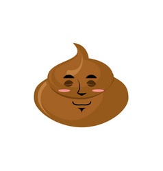 shit sleep emoji turd asleep emotion isolated vector image vector image