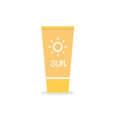 suntan cream icon on isolated background vector image vector image