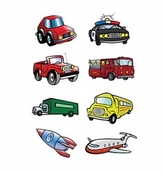 transportation collection vector image vector image