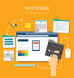 website development project design concept vector image