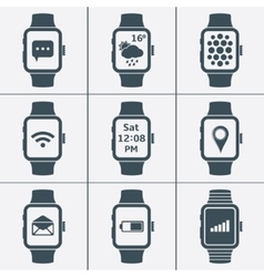 Icon set of smart watches vector