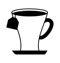 Tea cup beverage isolated icon vector