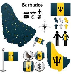Barbados map vector