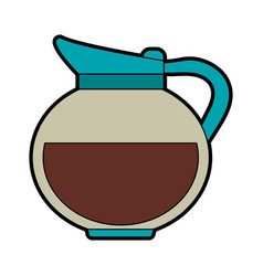 Kettle coffee beverage icon image vector