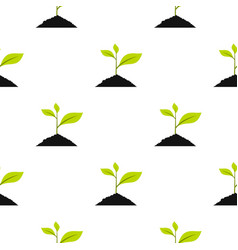 green sprout pattern flat vector image
