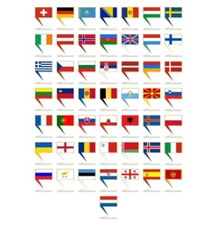 Badges with flags of europe vector