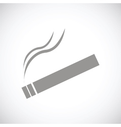 Cigarette black icon vector