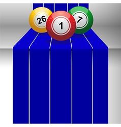 Bingo balls on 3D step vector image