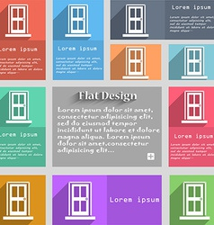 Door icon sign set of multicolored buttons metro vector