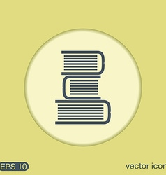 Books tower icon education sign vector