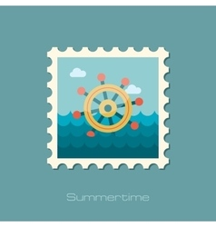 Helm flat stamp vector