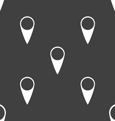 Map pointer icon GPS location symbol Seamless vector image